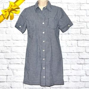 Gingham Button p Shirt Stretch Dress k8g06p01a11p0